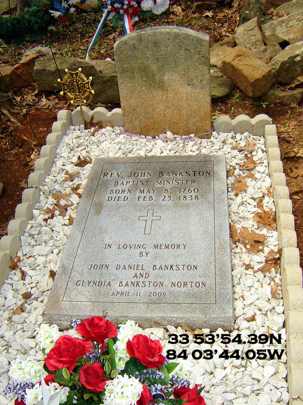 Reverend John Bankston Grave Marking, April 2009