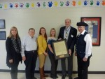 Presentation of a copy of the Declaration of Independence to Indian Knoll Elementary